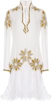 Rodarte Hand Beaded Floral Lace Dress