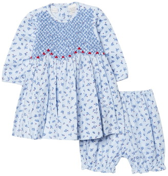 Carriage Boutique Long Sleeve Embroidered Dress & Bloomers Set