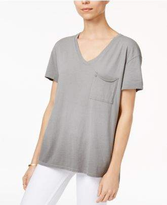 True Religion V-Neck High-Low T-Shirt