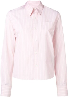 Ami Chest Pocket Striped Shirt