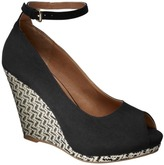 Mb Women's Mossimo® Vallie Peep Toe Wedge - Black