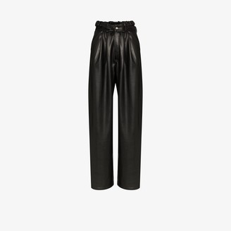 Markoo Wide Leg Faux Leather Trousers