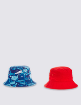 Marks and Spencer Kids' 2 Pack Pure Cotton Hats