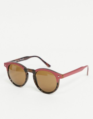 A. J. Morgan AJ Morgan round sunglasses in burgundy
