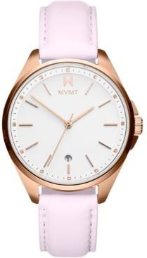 MVMT Women's Coronada-Malibu Fade Rose Leather Strap Watch 36mm