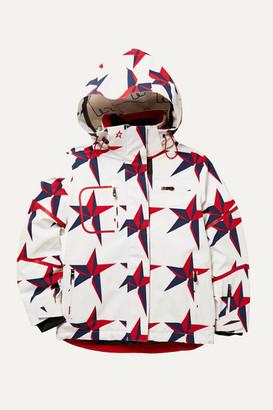 Perfect Moment Kids Qanuck Pro Ii Hooded Printed Padded Ski Jacket - White