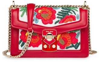 Miu Miu Confidential embroidered shoulder bag