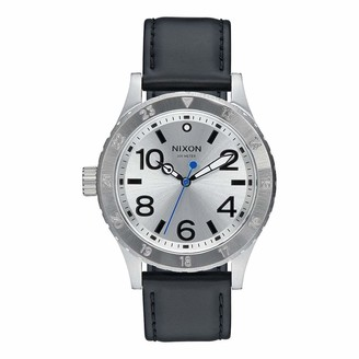 Nixon Men's Stainless Steel Quartz Watch with Leather Strap