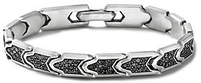 David Yurman Link Bracelet with Pave Black Diamonds