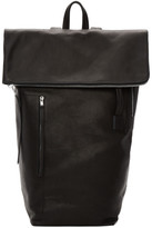 Rick Owens Black Leather Duffle Backpack
