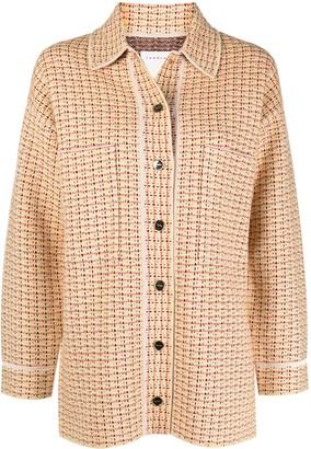 Sandro Chunky Woven-Knit Jacket