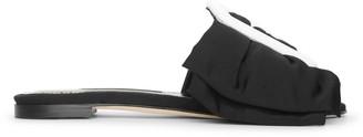 Manolo Blahnik Flariabi flat black slides