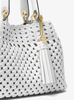 MICHAEL Michael Kors Brooklyn Small Woven Leather Tote