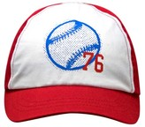 Circo Toddler Boys' 76 Baseball Print Baseball Hat White/Red