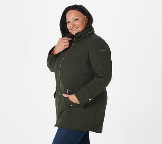 Dennis Basso Water-Resistant V-Luxe Jacket with Hidden Hood