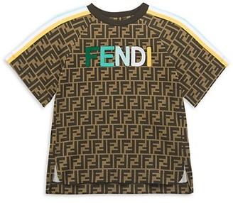 Fendi Little Kid's & Kid's Allover Logo T-Shirt