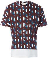 Marni geometric print T-shirt - men - Cotton - 48
