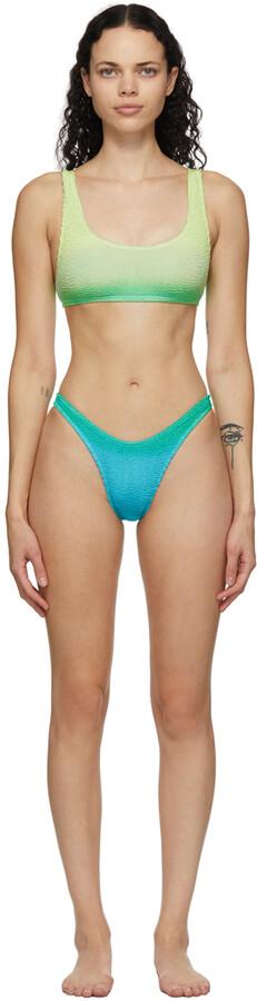 BOUND by Bond-Eye Green & Blue 'The Malibu' Bikini