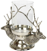 Culinary Concepts Stag Head Hurricane Lamp, Silver