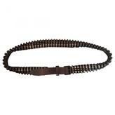 Balmain Black Leather Belt