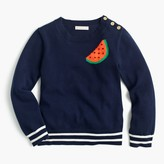 J.Crew Girls' watermelon popover sweater