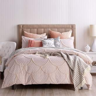 Chenille Scallop Comforter Set, Twin