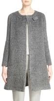 Armani Collezioni Women's Barrel Clasp Faux Shearling Coat