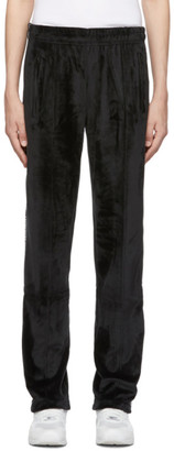 Opening Ceremony SSENSE Exclusive Black Velour Logo Lounge Pants