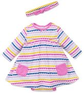Little Me Offspring�� 2-Piece Multicolor Hearts Bodysuit Dress and Headband Set