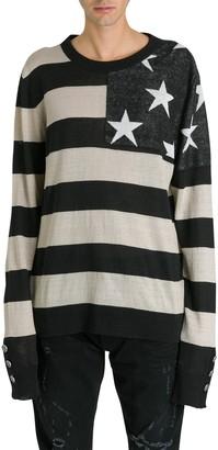 Balmain Flag Striped Jumper