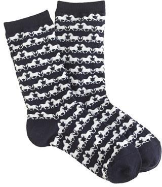 J.Crew Horse-print trouser socks