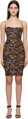 Versace Jeans Couture Black Ruched Barocco Dress