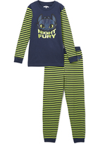 Intimo Green 'Night Fury' Pajama Set - Boys