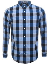 Original Penguin P55 Jaspe Plaid Check Shirt Blue