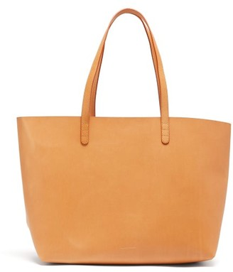Mansur Gavriel Large Leather Tote Bag - Womens - Tan Multi