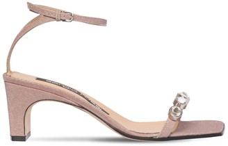 Sergio Rossi 60mm Embellished Glitter Sandals