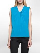 Calvin Klein Knot Neck Stretch Sleeveless Top