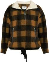 Etoile Isabel Marant Gilas zip-neck checked jacket