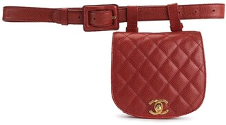 1990s quilted CC belt bag