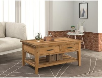 Millwood Pines Solid Wood Cross Legs Coffee Table Shopstyle