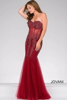 Jovani Long Strapless Sweetheart Mermaid Bodice Prom Dress 5908