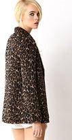 Forever 21 Leopard Print Pea Coat