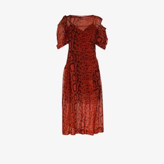 Preen by Thornton Bregazzi Franny printed midi dress
