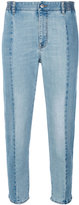 Stella McCartney panelled cropped jeans - women - Cotton/Polyester/Spandex/Elastane - 26
