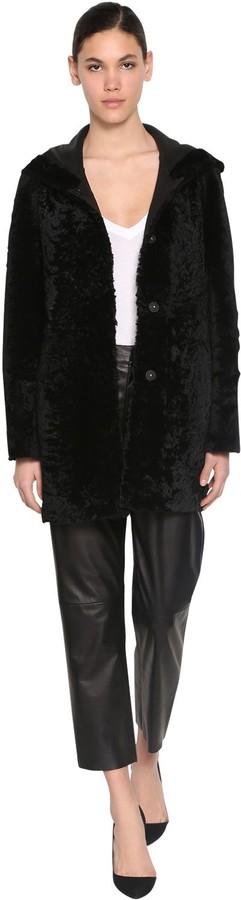 Drome Reversible Hooded Astrakhan Coat
