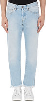 Off-White Men's Striped-Back Crop Jeans-BLUE