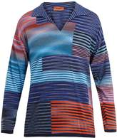 Missoni Open-neck long-sleeved polo cotton shirt