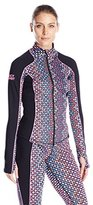 Juicy Couture Black Label Women's Sport Compression Sequin Haze Fitted Jacket