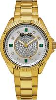 SO & CO New York 5237.3 Women's Madison Dress Analog Watch with Dial and Gold Band
