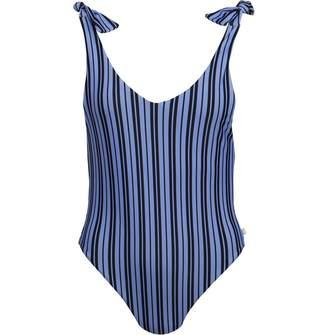 Jack Wills Womens Heatherburn Tie Shoulder Swimsuit Black